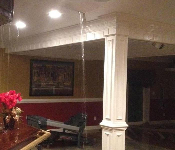 Burst pipe causes home to flood Before